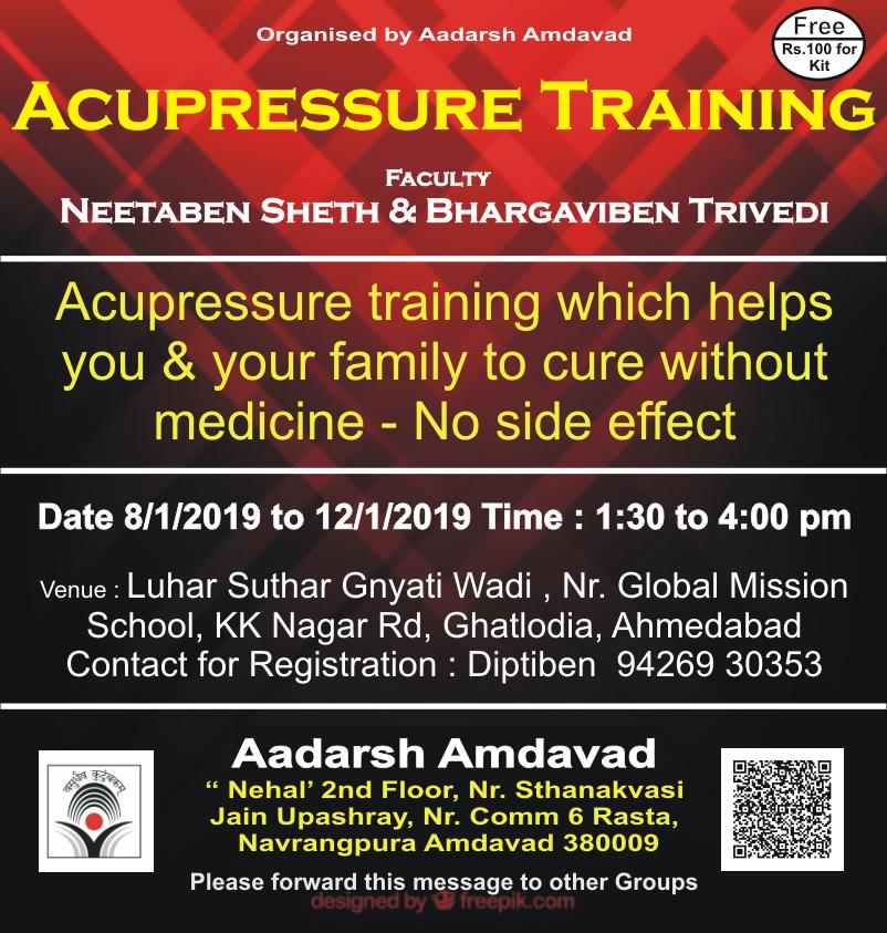 Acupressure Training | Aadarsh Amdavad